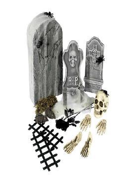 set de piezas de cementerio para halloween