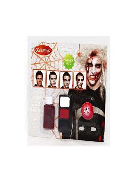 set maquillaje de zombie para hombre