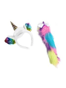 set de unicornio diadema y cola