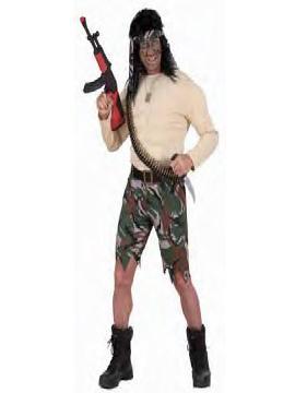 disfraz de rambo musculoso hombre adulto
