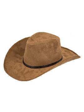 sombrero de vaquero marron deluxe
