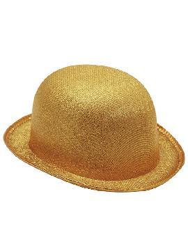 sombrero bombin dorado 58c