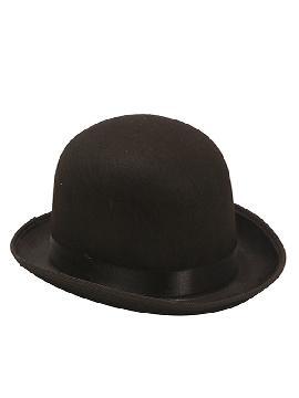 sombrero bombin negro 58cm