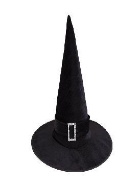 sombrero bruja negro clasico