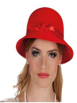 sombrero charleston rojo