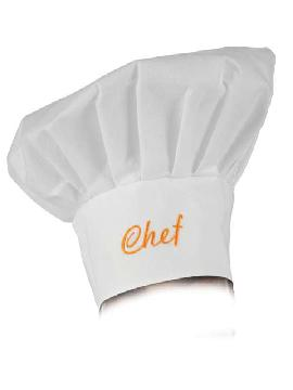sombrero cocinero chef blanco 57 a 61 cm
