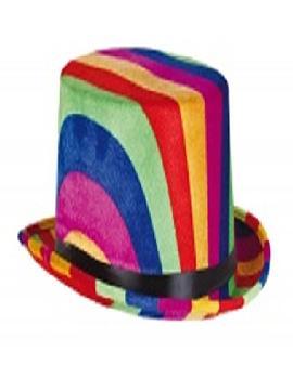 sombrero chistera multicolor lujo