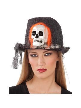 sombrero con calavera 59 cm