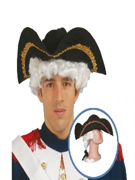 sombrero de almirante con coleta adulto
