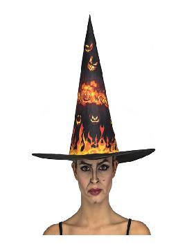 sombrero de bruja con fuego