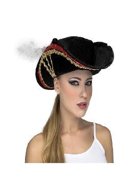 sombrero de bucanera con pluma