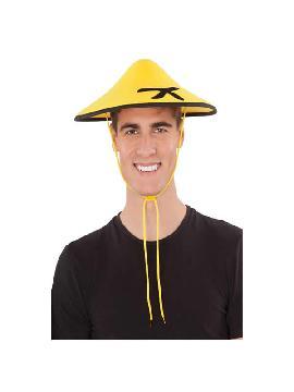 sombrero de chino amarillo