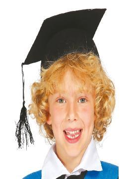 sombrero de estudiante fieltro infantil