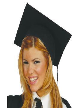 sombrero de graduado fieltro adulto
