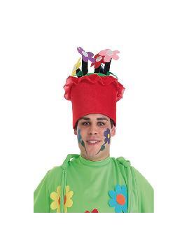 sombrero de maceta flores adulto