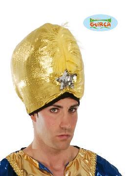 sombrero de marajá dorado adulto