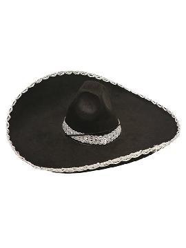 sombrero de mariachi mexicano negro infantil