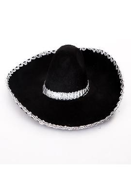 sombrero de mariachi negro adulto