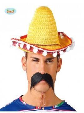 sombrero de mejicano 33 cms amarillo adulto