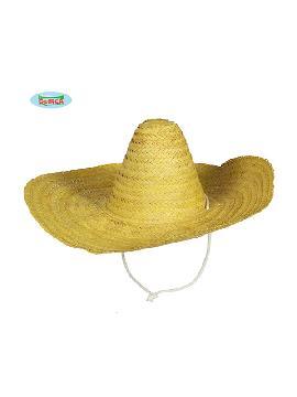 sombrero de mejicano amarillo 50cm