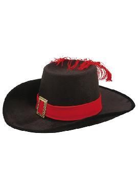 sombrero de mosquetero terciopelo para niño