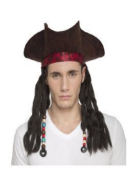 sombrero de pirata con rastas