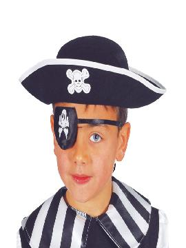 sombrero de pirata fieltro infantil