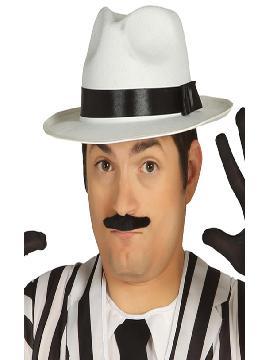 sombrero de rey del pop blanco