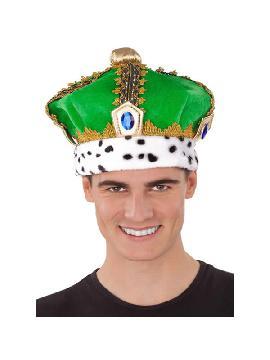 sombrero de rey verde 59 cm