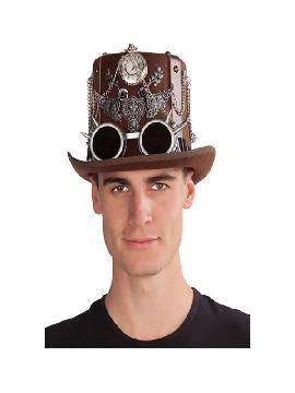 sombrero de steampunk copa marron