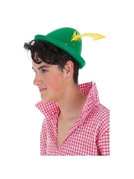 sombrero de tiroles verde con pluma