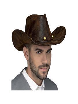 sombrero de vaquero efecto cuero