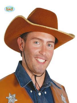 sombrero de vaquero marron adulto