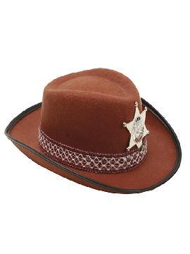 sombrero de vaquero marron niño