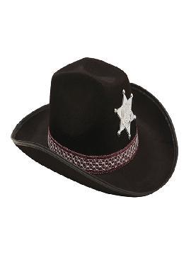 sombrero de vaquero para adultos negro