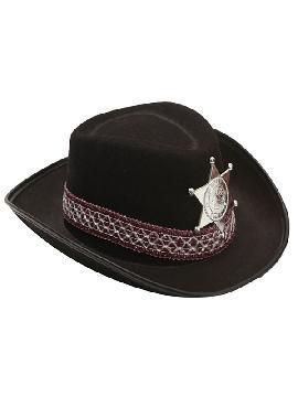 sombrero de vaquero para niños negro