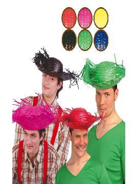 sombrero espantapajaros paja colores adulto