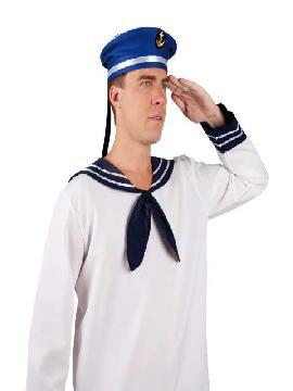 sombrero gorro marinero azul