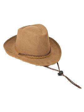 sombrero marron de vaquero para niños