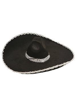 sombrero mejicano o mariachi negro fieltro adulto