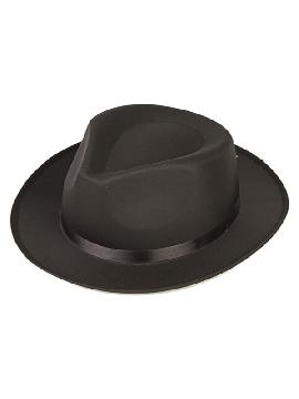 sombrero negro de ganster ajustable