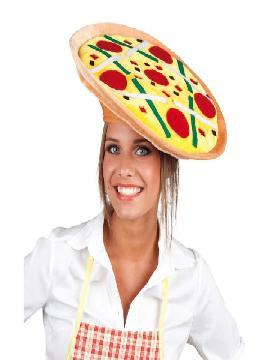 sombrero de pizza peperoni adulto
