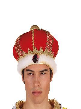sombrero rey mago lujo rojo adulto