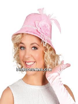 sombrero o gorro senora rosa años 20