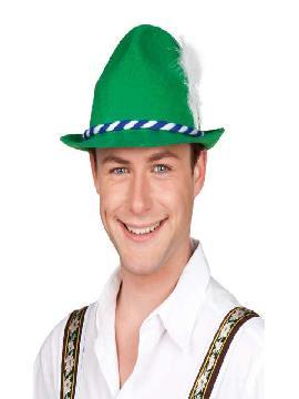 sombrero o gorro de tiroles verde