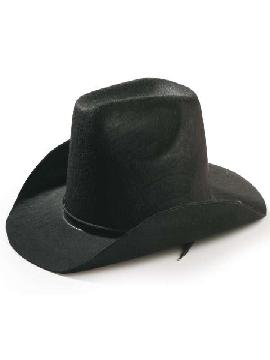 sombrero vaquero fieltro negro