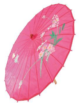 sombrilla geisha tela poliester soporte palo 85 cm