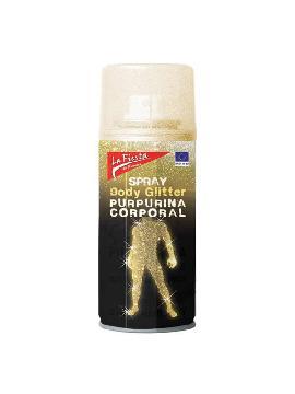 spray oro glitter para cuerpo