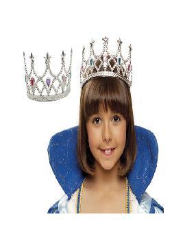 tiara o diadema plata para princesas