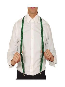 tirantes de lentejuelas verde adulto